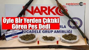İzmir'in Çeşme İlçesinde Kümesten Uyuşturucu Madde Çıktı