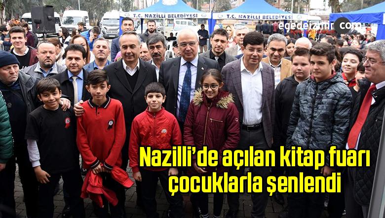 Nazilli'de açılan kitap fuarı çocuklarla şenlendi