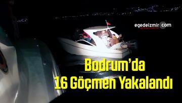 Muğla'nın Bodrum İlçesinde 16 Göçmen Yakalandı