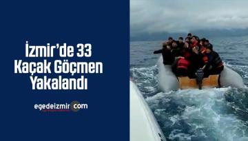 İzmir'in Dikili İlçesinde 33 Kaçak Göçmen Yakalandı