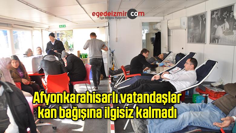 Afyonkarahisarlı vatandaşlar kan bağışına ilgisiz kalmadı