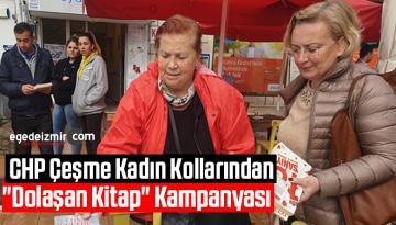 """CHP Çeşme Kadın Kollarından """"Dolaşan Kitap"""" Kampanyası"""