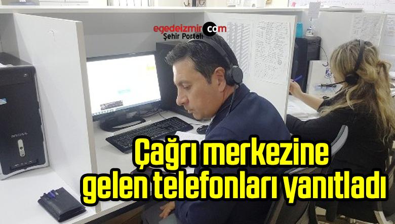 Bodrum Belediye Başkanı Aras çağrı merkezine gelen telefonları yanıtladı