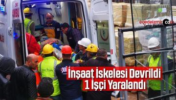Nazilli'de İnşaat İskelesi Devrildi 1 İşçi Yaralandı
