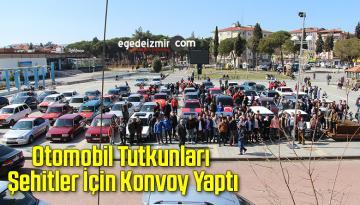 Otomobil Tutkunları Şehitler İçin Konvoy Yaptı