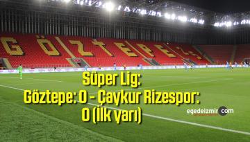 Süper Lig: Göztepe: 0 – Çaykur Rizespor: 0 (İlk yarı)