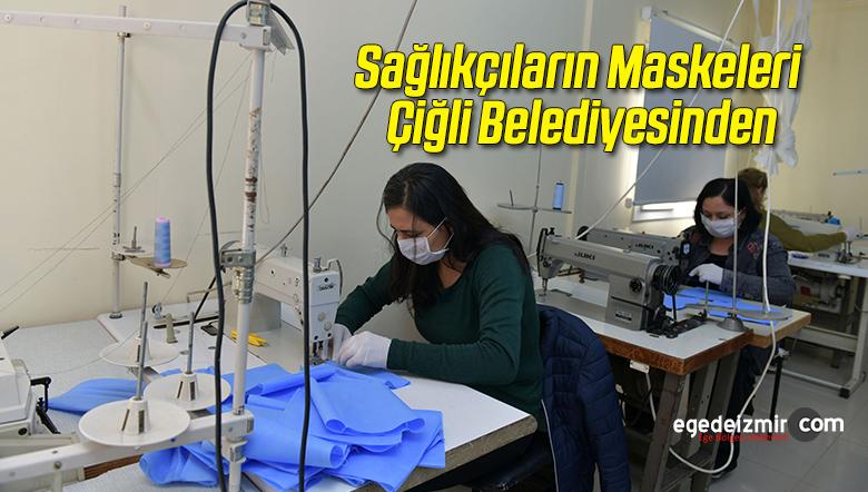 Çiğli'deki Sağlıkçıların Maskeleri Çiğli Belediyesinden