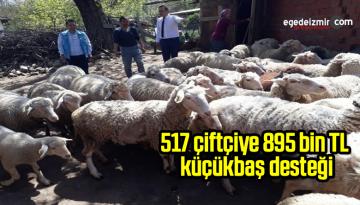 Simav'da 517 çiftçiye 895 bin TL küçükbaş hayvan desteklemesi