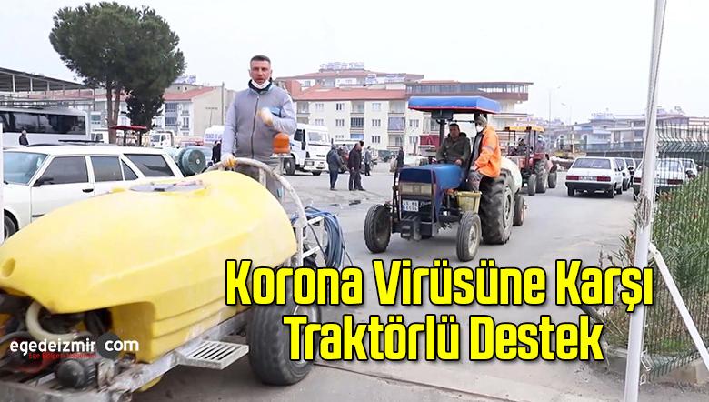 Korona Virüsüne Karşı Traktörlü Destek