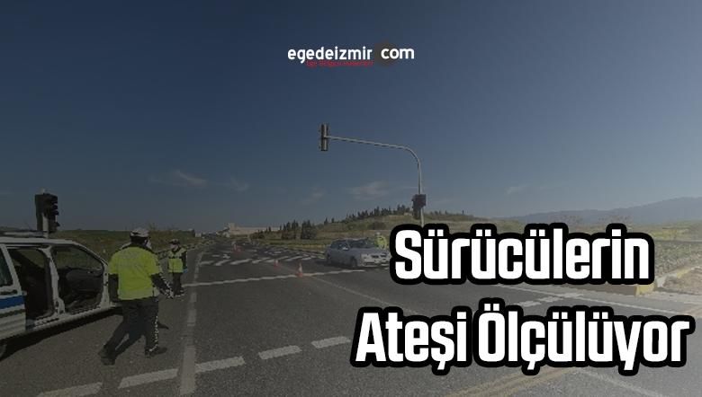 İzmir'de Girişler Ateş Ölçer ile Kontrol Ediliyor