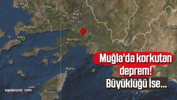 Son dakika! Muğla'da korkutan deprem! Büyüklüğü…