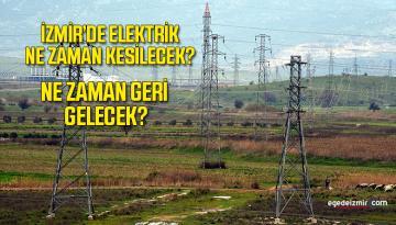 Aliağa'da Planlı Elektrik Kesintisi