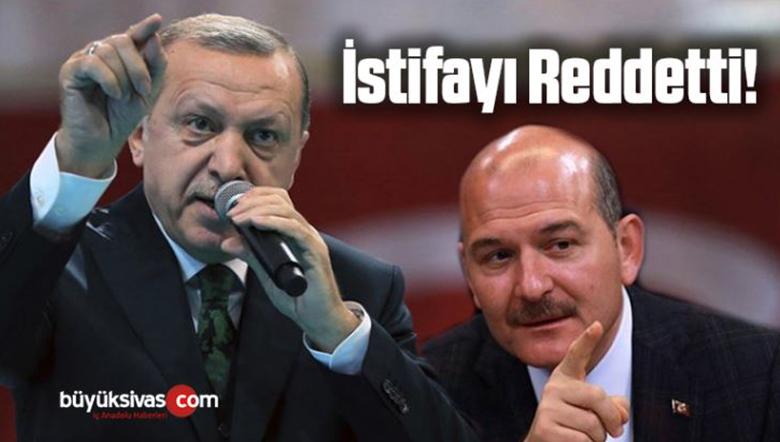 Cumhurbaşkanı Erdoğan Süleyman Soylu'nun istifasını Kabul Etmedi