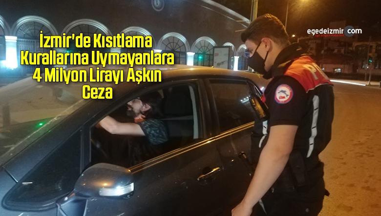 İzmir'de Kısıtlama Kurallarına Uymayanlara 4 Milyon Lirayı Aşkın Ceza