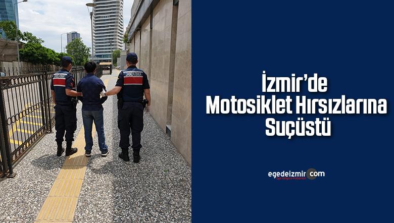 İzmir'de motosiklet hırsızlarına suçüstü