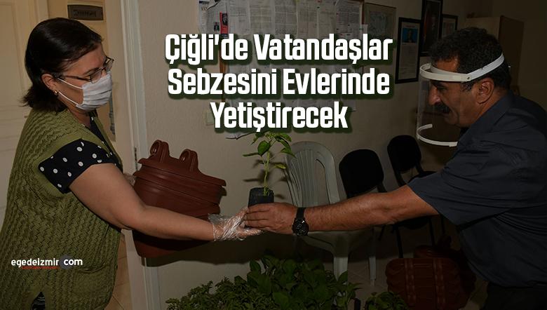 Çiğli'de vatandaşlar sebzesini evlerinde yetiştirecek