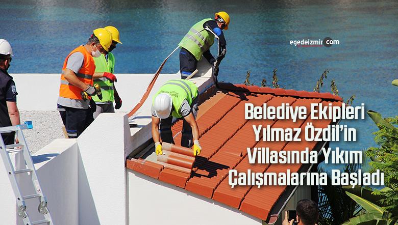 Belediye Ekipleri Yılmaz Özdil'in Villasında Yıkım Çalışmalarına Başladı