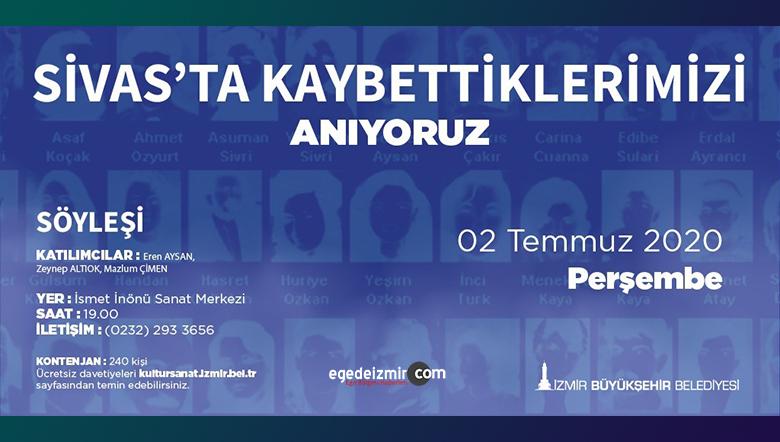 İzmir'de 2 Temmuz için anma programı