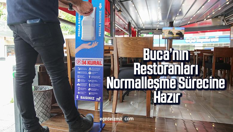 Buca'nın restoranları normalleşme sürecine hazır