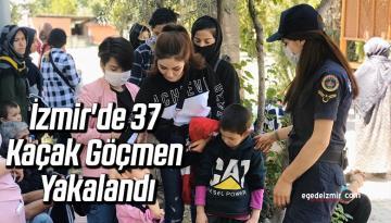 İzmir'in Seferihisar İlçesinde 37 Kaçak Göçmen Yakalandı