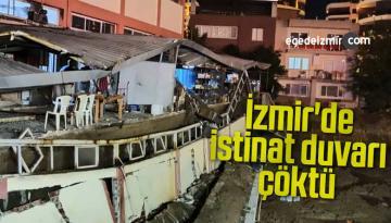 İzmir'de istinat duvarı çöktü
