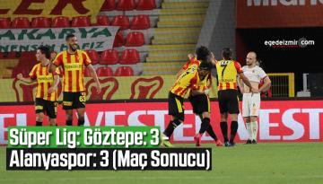 Süper Lig: Göztepe: 3 – Alanyaspor: 3 (Maç Sonucu)