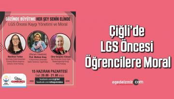 Çiğli'de LGS öncesi öğrencilere moral