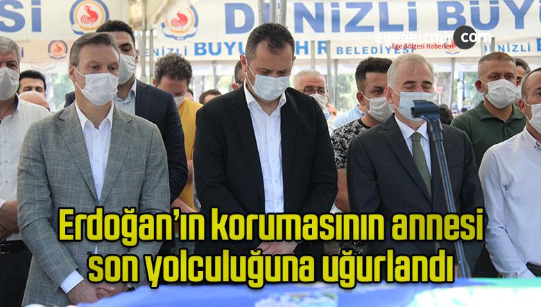 Erdoğan'ın korumasının annesi son yolculuğuna uğurlandı