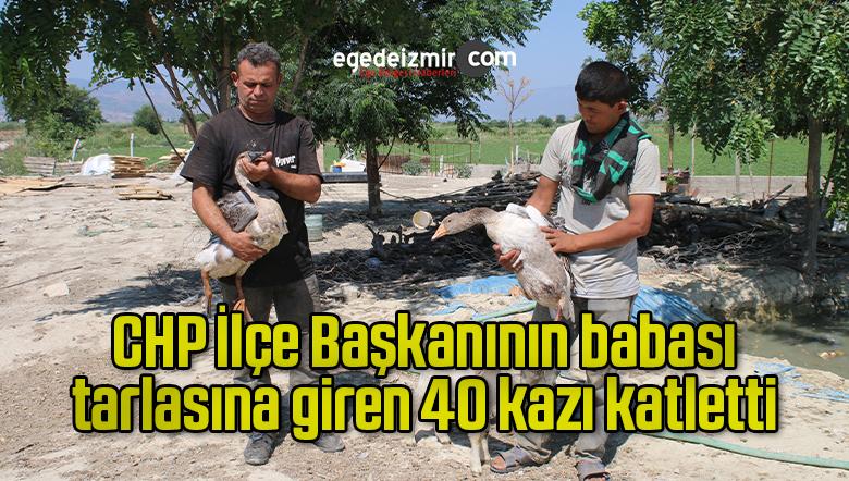 CHP İlçe Başkanının babası, tarlasına giren 40 kazı katletti