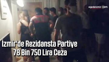 İzmir'de rezidansta partiye 78 bin 750 lira ceza