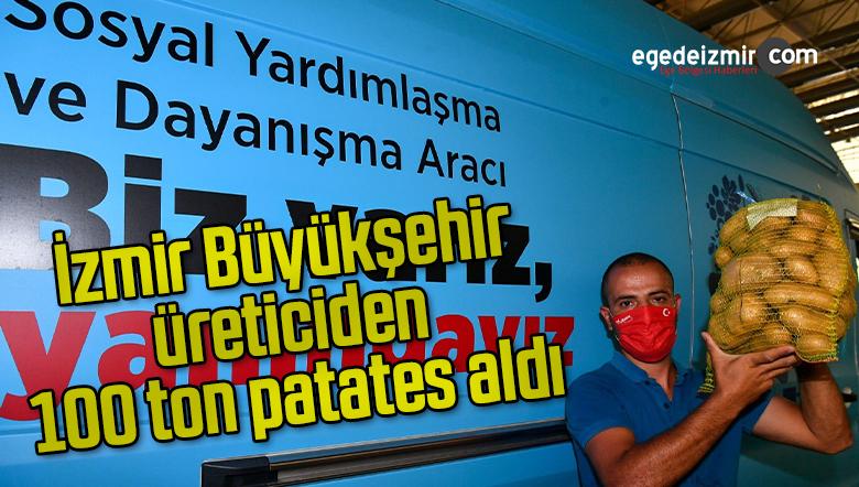 İzmir Büyükşehir, üreticiden 100 ton patates aldı