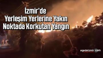 İzmir'de yerleşim yerlerine yakın noktada korkutan yangın