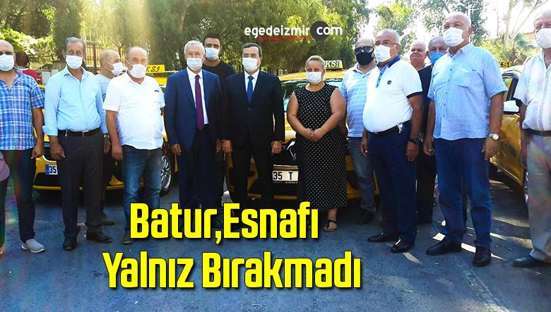 Batur, esnafı yalnız bırakmadı