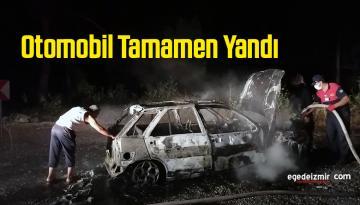 Seyir Halindeki Otomobil Alev Aldı Tamamen Yandı