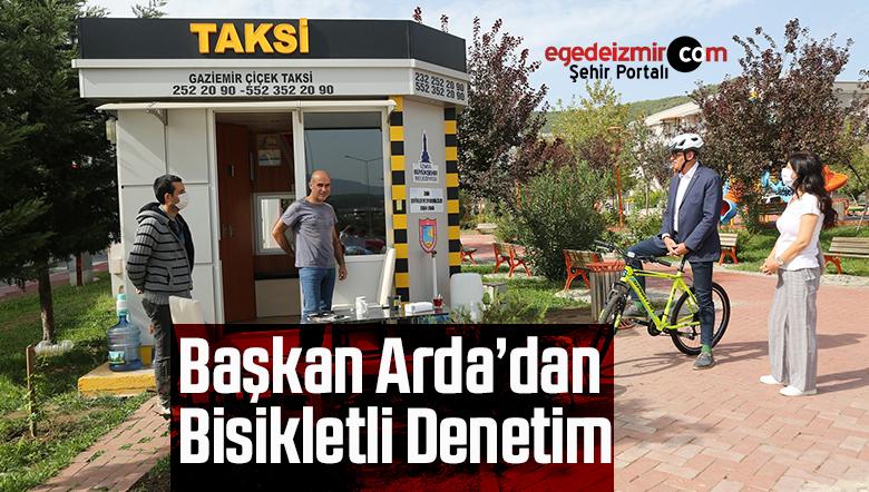 Başkan Arda'dan bisikletli denetim