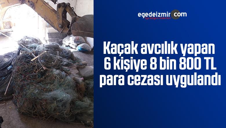 Kaçak avcılık yapan 6 kişiye 8 bin 800 TL para cezası uygulandı