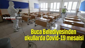 Buca Belediyesinden okullarda Covid-19 mesaisi