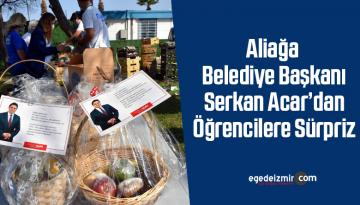 Aliağa Belediye Başkanı Serkan Acar'dan öğrencilere sürpriz