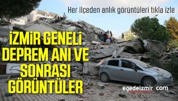 İzmir Depremi 30 Ekim 2020 Öncesi Sonrası ve Deprem Anı Şok Görüntüler