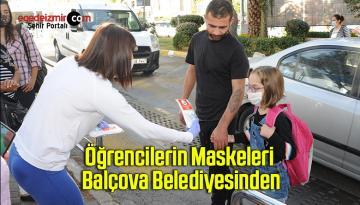 Öğrencilerin Maskeleri Balçova Belediyesinden