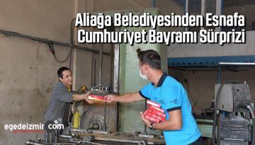 Aliağa Belediyesinden esnafa Cumhuriyet Bayramı sürprizi