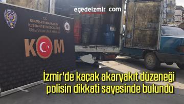 İzmir'de kaçak akaryakıt düzeneği polisin dikkati sayesinde bulundu
