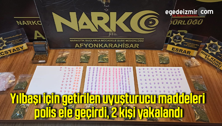 Yılbaşı için getirilen uyuşturucu maddeleri polis ele geçirdi, 2 kişi yakalandı