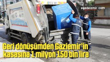 Geri dönüşümden Gaziemir'in kasasına 1 milyon 150 bin lira