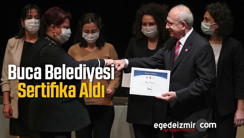 Buca Belediyesi Sertifikasını Kılıçdaroğlu'ndan Aldı