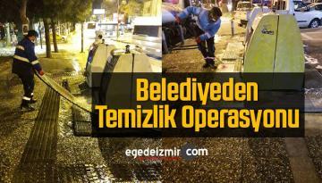 Buca Belediyesinden Çöp Konteynerlerini Dezenfekte Çalışması