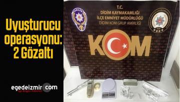 Didim İlçesinde Uyuşturucu Operasyonu, 2 Kişi Gözaltına Alındı