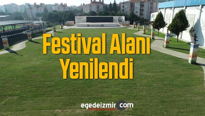 Gaziemir Belediyesi Festival Alanını Yeniledi