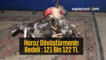 Horoz Dövüştürmek Pahalıya Patladı, Bedeli 121 Bin 122 TL Oldu