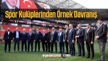 İzmir Futbol Kulüplerinden Türkiye'ye Örnek Davranış